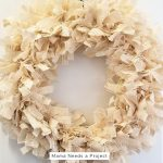 DIY Burlap Rag Wreath Tutorial