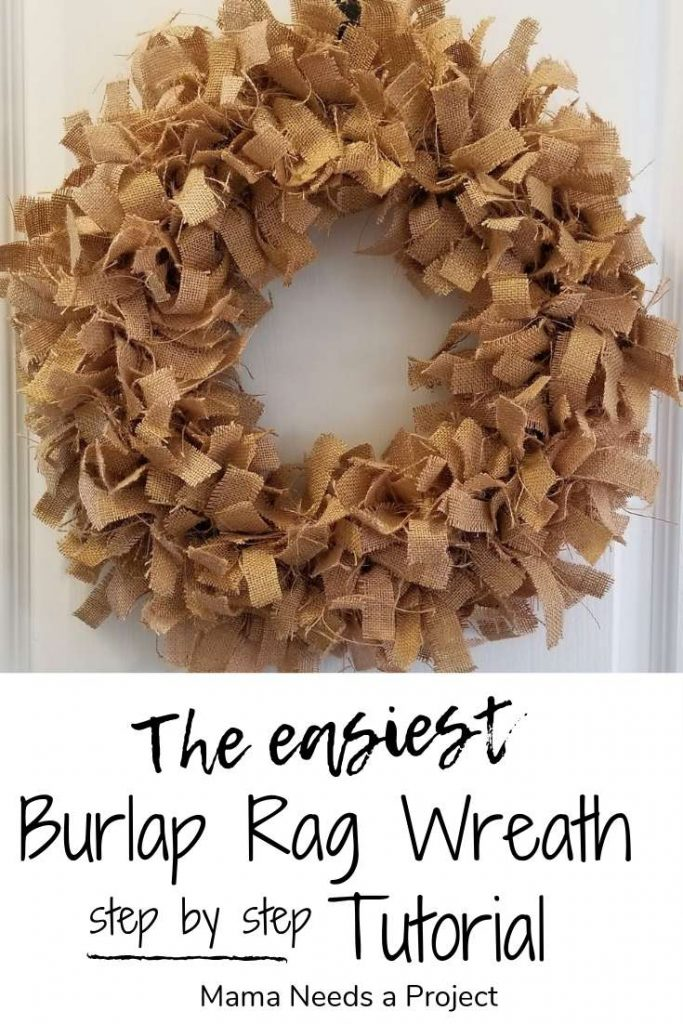 The easiest burlap rag wreath step by step tutorial
