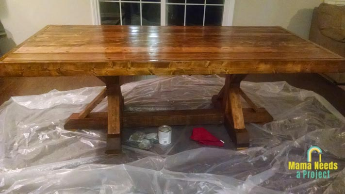 completed build a dining room table