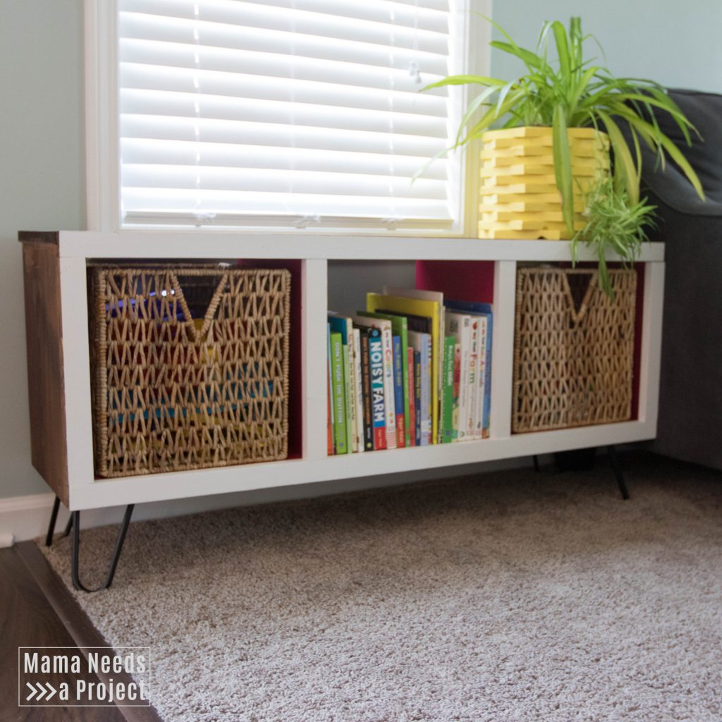 modern cubby shelf toy storage diy woodworking tutorial