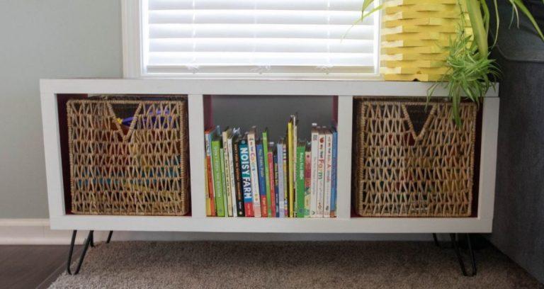 DIY Modern Cubby Shelf