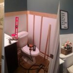 Budget Half Bathroom Update - DIY Wainscoting