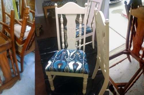 thrift store chairs update process