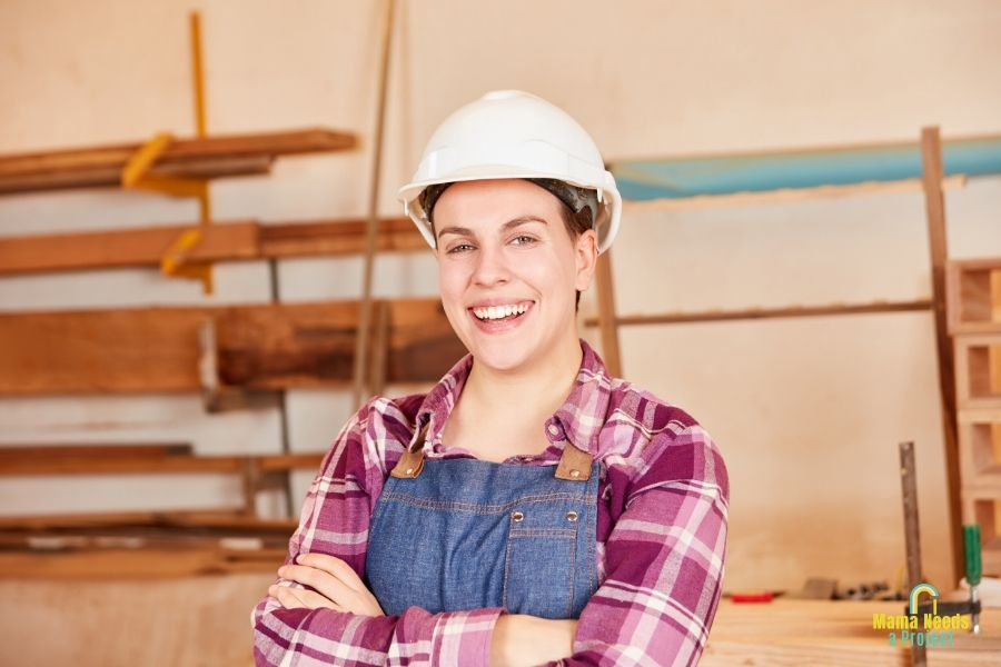 female woodworker