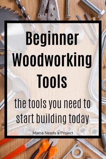 beginner woodworking tools pinterest image