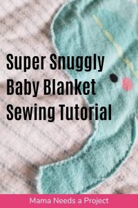 super snuggly baby blanket sewing tutorial pinterest image