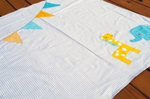 circus baby blanket sewing tutorial featured image