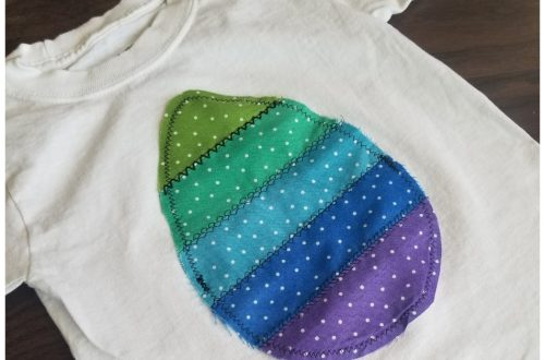 easter egg toddler shirt sewing tutorial featured image