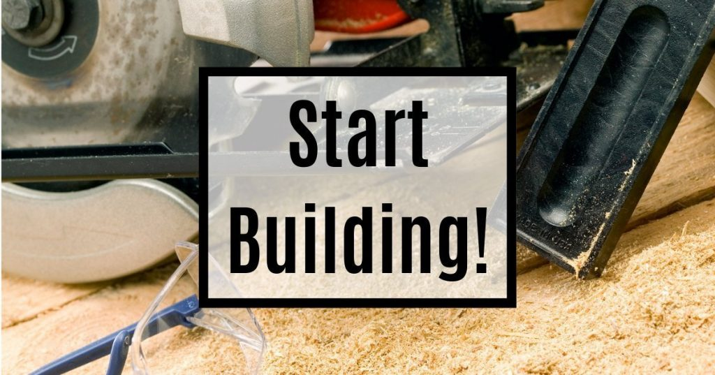 Woodworking saw and safety gear, start building