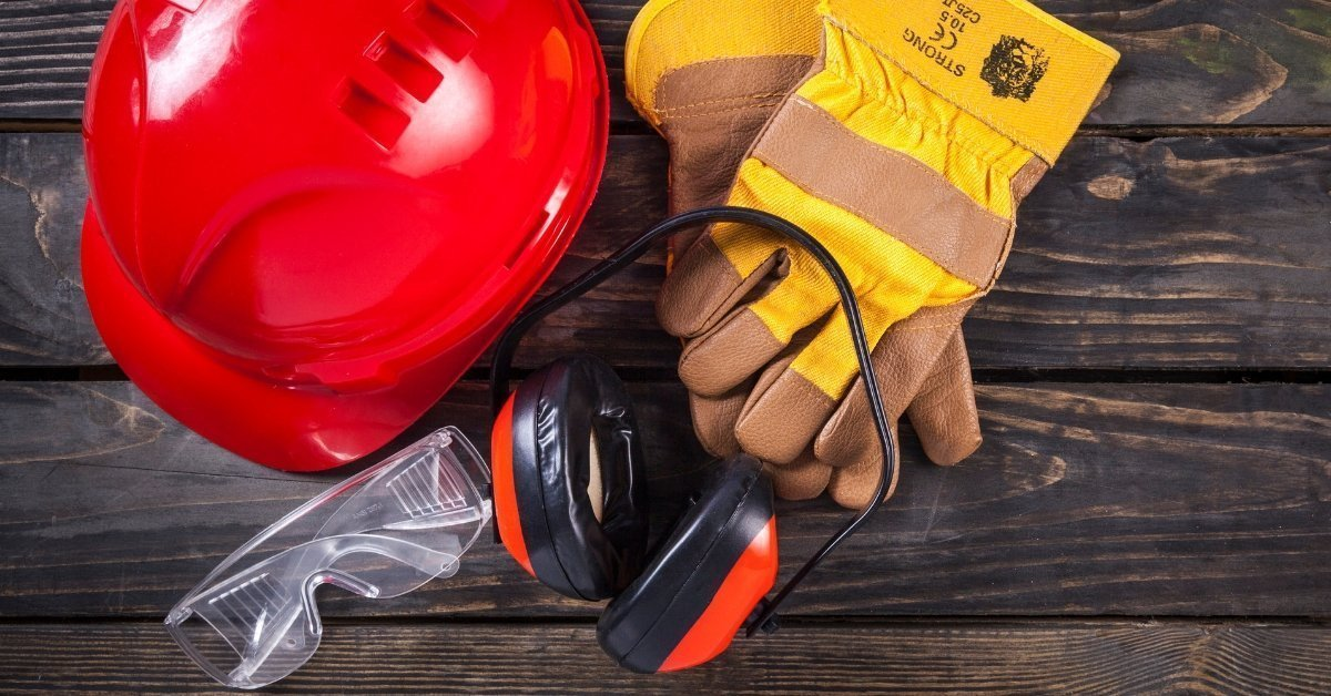 hard hat, gloves, eye protection, ear protection, woodworking safety gear, woodworking basics