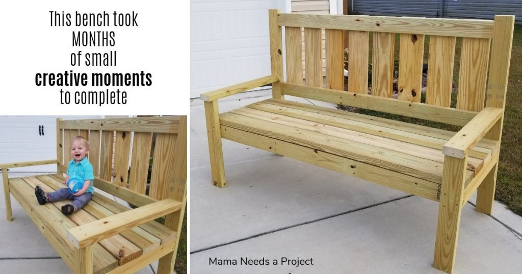 woodworking, large pine bench, this bench took months of creative moments to complete