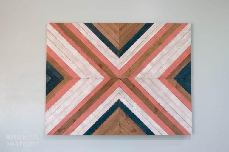 Big X Wood Quilt Wall Art Tutorial