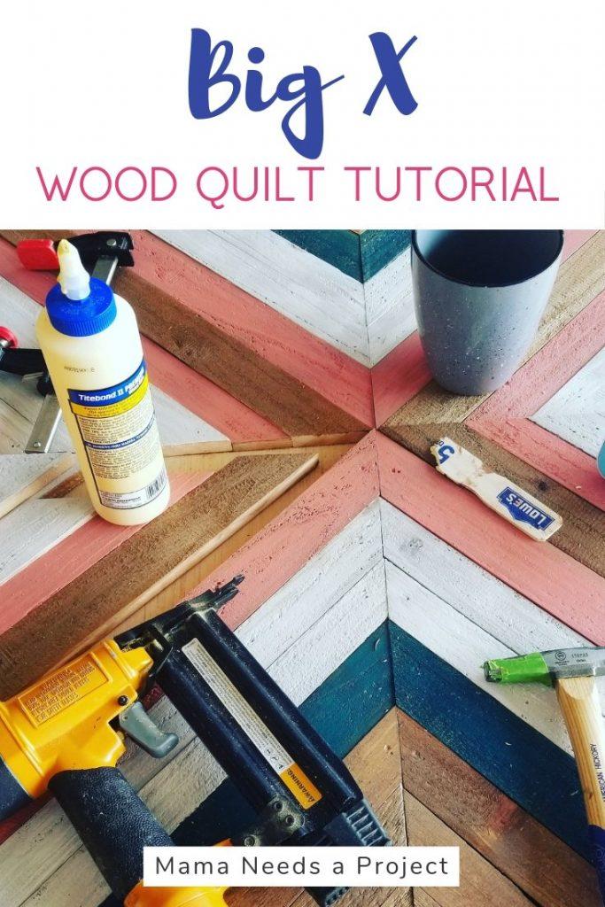 big x wood quilt wall art tutorial pinterest image