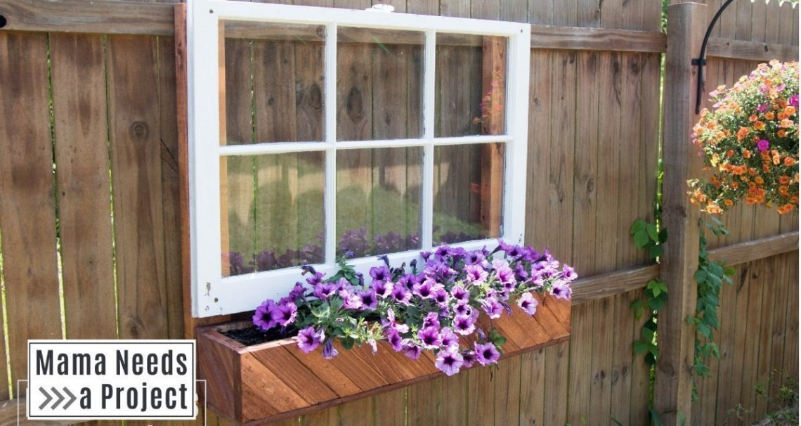 unique garden idea fence mounted flower box with window featured image