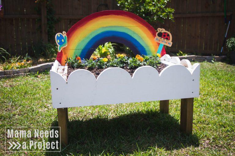 Rainbow Toddler Garden Tutorial