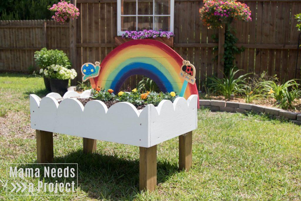 toddler flower bed completed