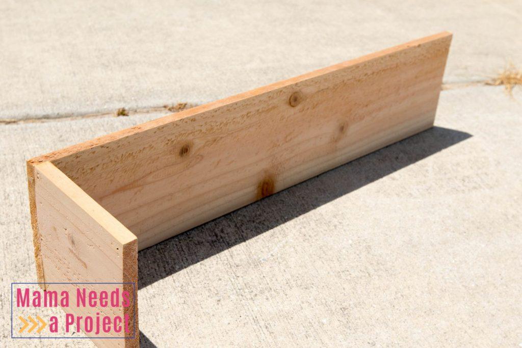 cedar wedding centerpiece box assembly pic 1