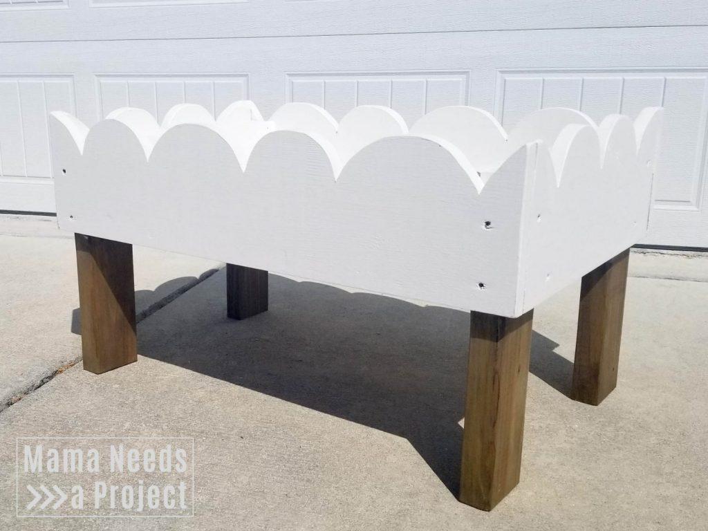 DIY woodworking toddler raised flower bed