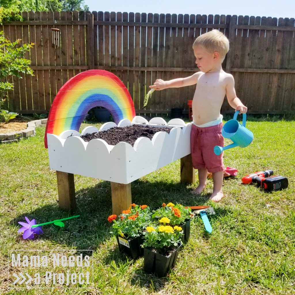 gardening with a toddler, planting flowers with a toddler, toddler garden