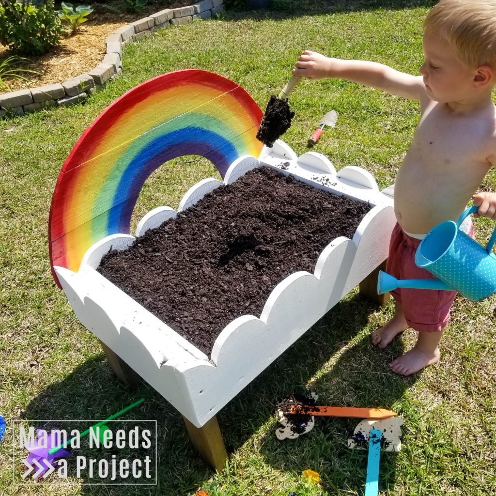 gardening with a toddler, toddler garden