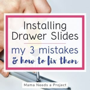 installing drawer slides - my 3 mistakes and how to fix them