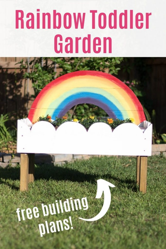 rainbow toddler garden pinterest image