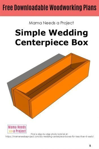 free downloadable woodworking plans, simple wedding centerpiece box