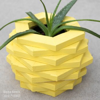 DIY pineapple planter woodworking tutorial