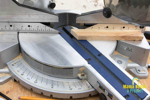 how to cut hexagon pieces on a miter saw