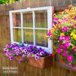 fence mounted flower box & window unique garden design