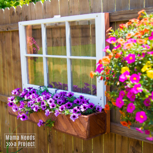 fence mounted flower box & window unique garden design