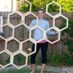 Honeycomb Garden Trellis | DIY Garden Trellis Tutorial (with video!)