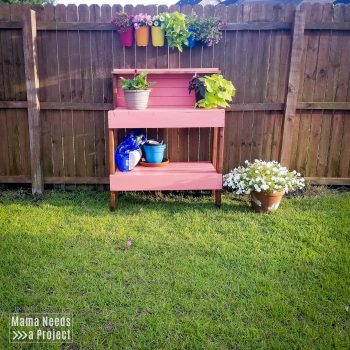 Simple 2x4 Potting Bench Makeover-17