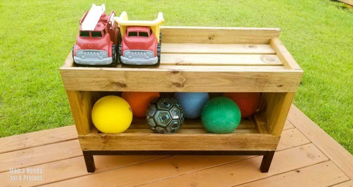 Backyard Toy Storage Shelf Free Building Plans Mama Needs A Project