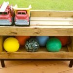 Backyard Toy Storage Shelf + free building plans!