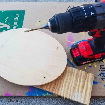 drill holes into plaque with drill