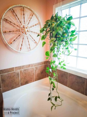 pink bathroom, change your home decor style on a budget