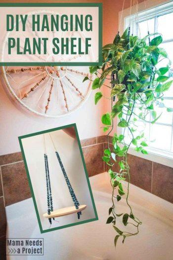 DIY Hanging Plant Shelf