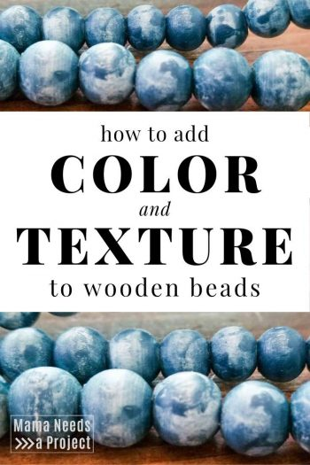 how to add color and texture to wooden beads with colorwashing
