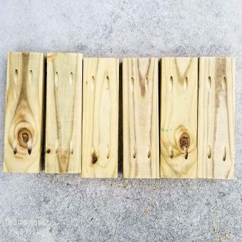 pockets holes in 2x4 boards