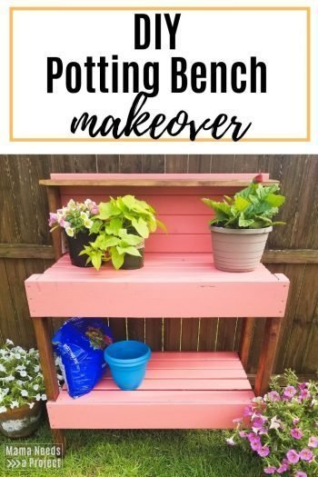 diy potting bench makeover