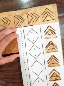 mudcloth pattern template for wood burning diy boho mirror