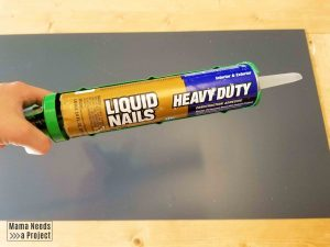liquid nails adhesive for diy boho mirror