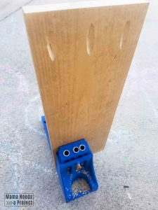 kreg jig to create pocket holes for mirror frame