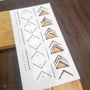 mudcloth pattern template for diy boho mirror