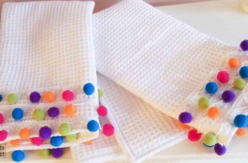 diy pom pom towels featured image