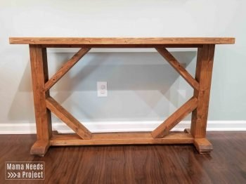 Peachy Skinny Console Table Woodworking Plans Mama Needs A Project Gmtry Best Dining Table And Chair Ideas Images Gmtryco
