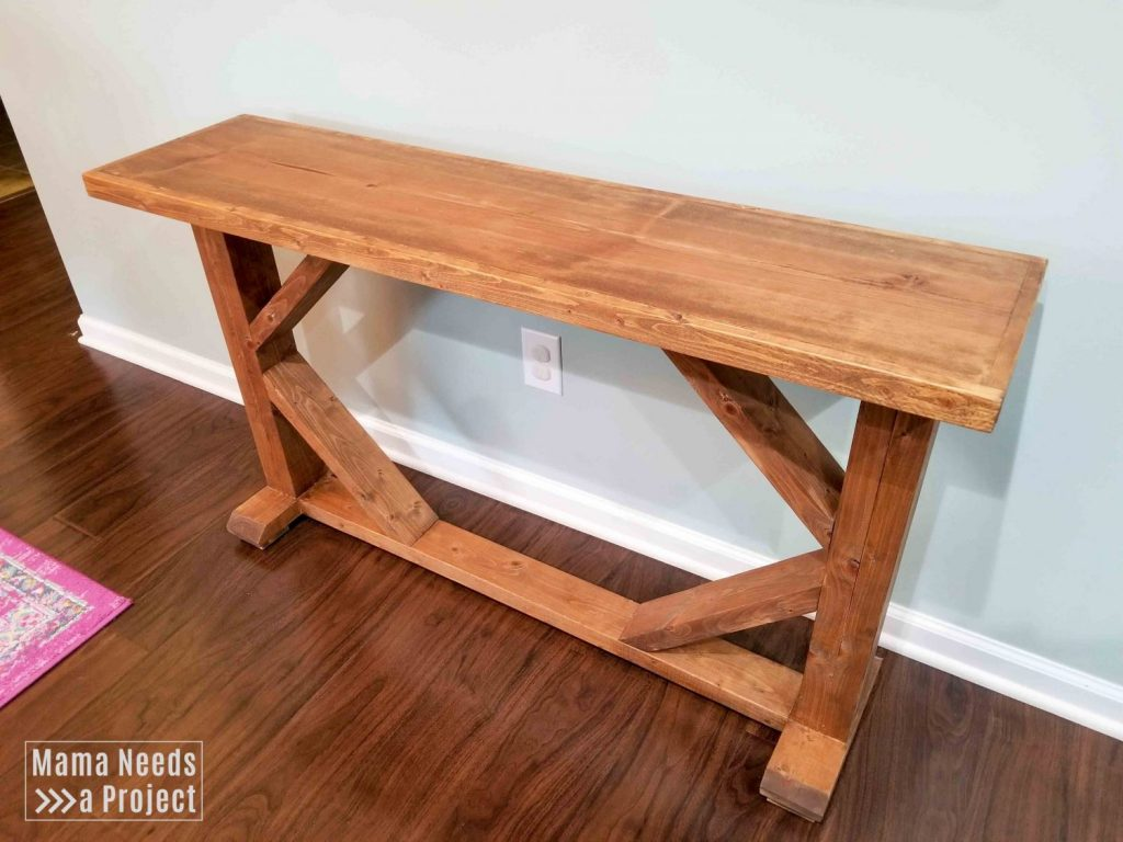 skinny console table side view