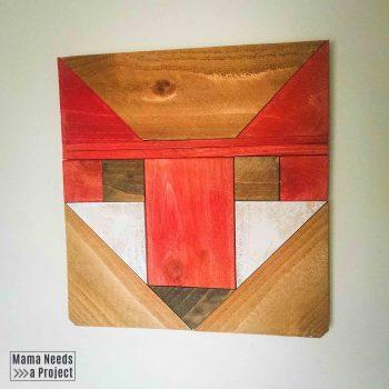 fancy fox wood quilt block