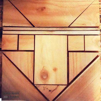 Fancy fox wood quilt block unfinished wood